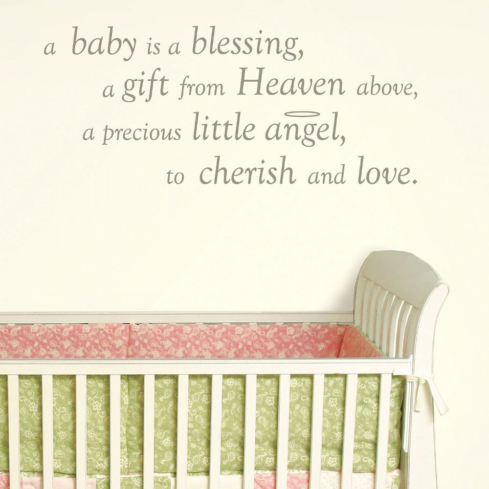 Baby is a Blessing -  Wall Wishes Sticker Set